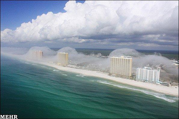 تصاویری کمیاب از «سونامی ابرها» در فلوریدا