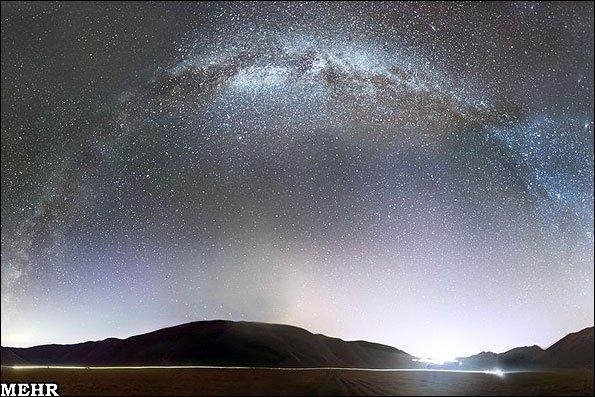 تصاویری تماشایی از رنگین کمان ستارگان
