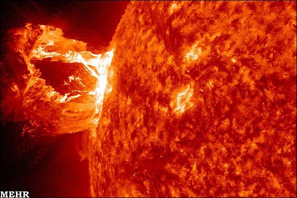 تصاویر شگفت انگیز جدیدترین انفجار خورشیدی
