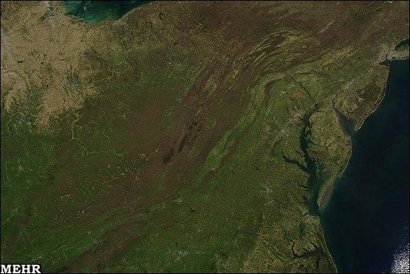 تصویر سرسبزی بهار زمین را از فضا ببینید